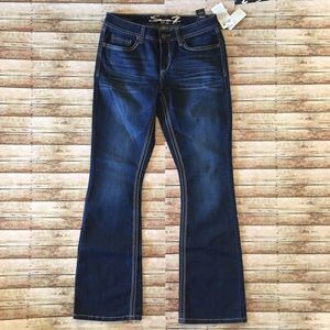 NWT Seven7 Embroidered Bootcut Jeans